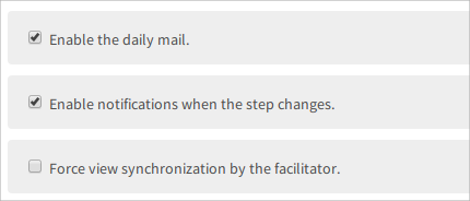 notifications in a workshop